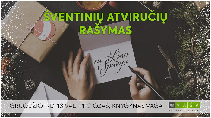 Kalėdinės kursyvo kaligrafijos dirbtuvės