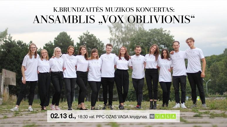 """Muzikos koncertas: ansamblis """"Vox Oblivionis"""""""