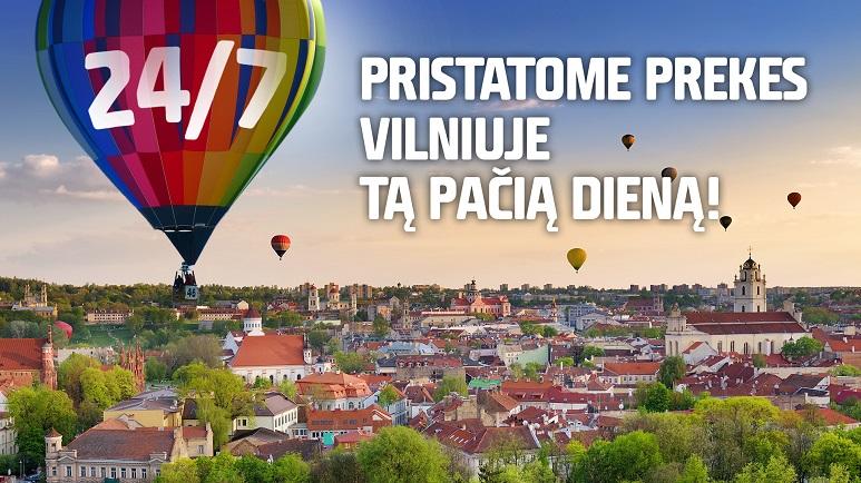 Vilniaus mieste užsakytas prekes pristatome tą pačią dieną!